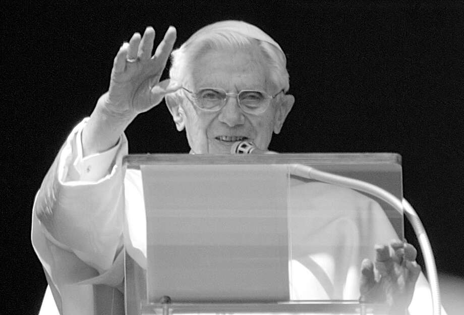 "Pope Benedict XVI, above, who recently announced his retirement, ""was a special individual who helped bring God's light more brightly to the world,"" says Rabbi Mitchell Hurvitz. Photo: Domenico Stinellis, Associated Press / AP"