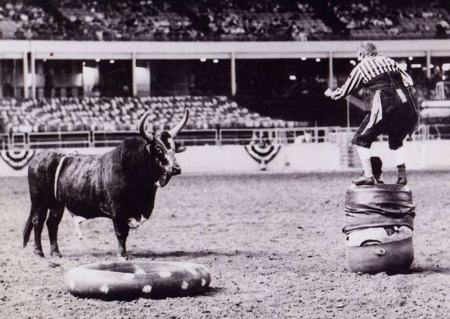 Here's the Kajun Kidd again, with a bull named Buster in the Astrodome.  Photo: Reader Submission