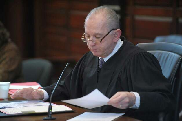 Supreme Court Justice Patrick McGrath during the arraignment of Keith D. Ferguson on Wednesday, Feb. 27, 2013 at the  Rensselaer County Courthouse in Troy, NY.  Ferguson was arraigned on charges stemming from the robbery and murder of Takim Smith.  (Paul Buckowski / Times Union) Photo: Paul Buckowski