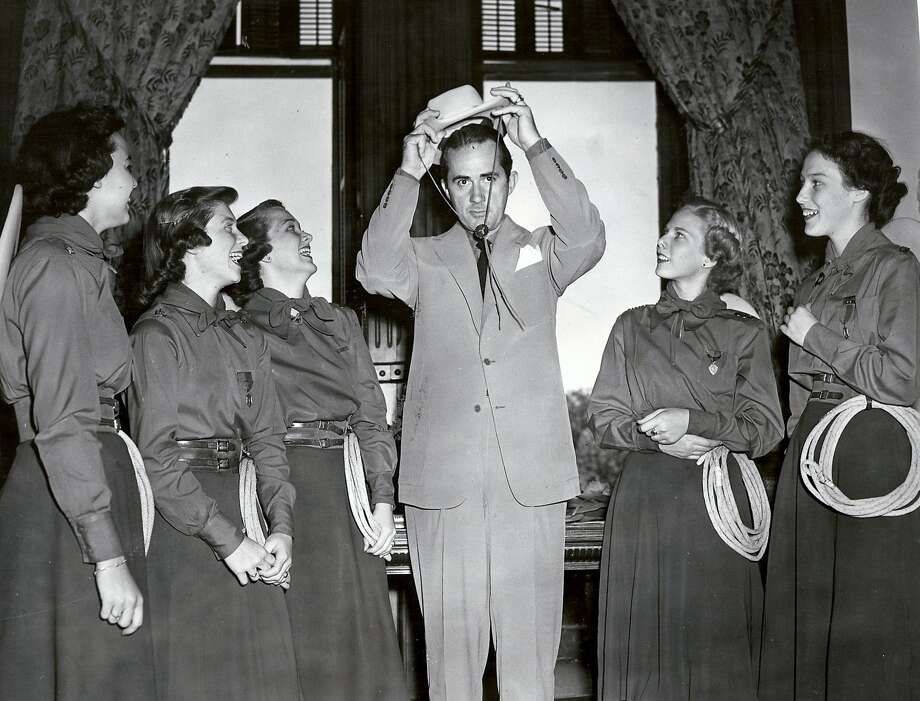 Lassos with Texas Governor Robert Allan Shivers, Austin, 1952. Photo: Courtesy Photo,      Lasso Alumni Association