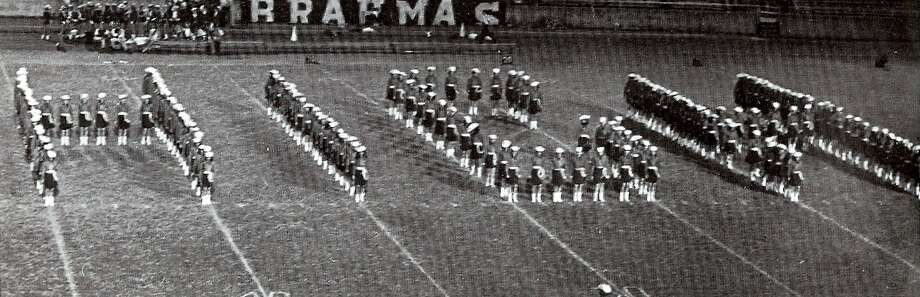 Lassos perform during halftime at Alamo Stadium, 1969. Photo: Courtesy Photo,      Lasso Alumni Association