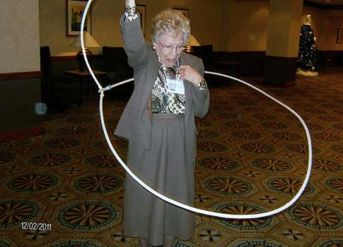 Former Lasso Kay Schimmel Kennell ropes in 2011 at Jefferson's class of 1956 reunion. Photo: Courtesy Photo,      Lasso Alumni Association
