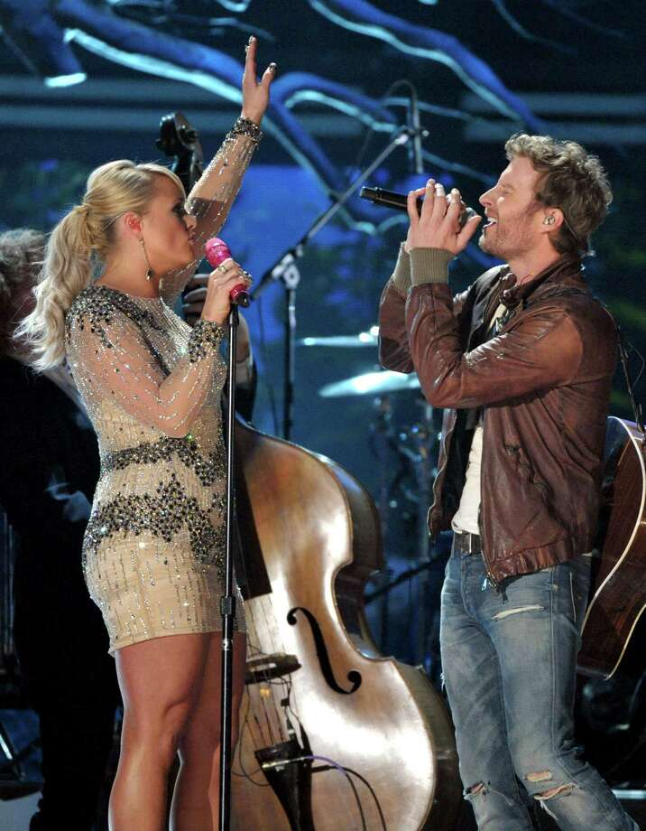 Recording artists Miranda Lambert, left, and Dierks Bentley perform at the 55th annual Grammy Awards on Sunday, Feb. 10, 2013, in Los Angeles. (Photo by John Shearer/Invision/AP) Photo: John Shearer / Invision