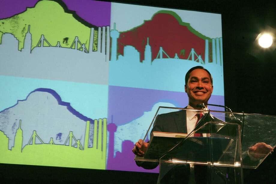 San Antonio mayor Julián Castro presents his annual State of the City address on Tuesday, Feb. 26, at the Convention Center. Photo: Cynthia Esparza / San Antonio Express-News