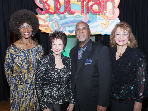 Queen of Soul board member Diane Cox (from left), Fiesta Commission president Marilyn Eldridge, Queen of Soul president Ben Burleson and Fiesta Commission board member Maria Ramirez Photo: J. MICHAEL SHORT, FOR THE EXPRESS-NEWS / THE SAN ANTONIO EXPRESS-NEWS