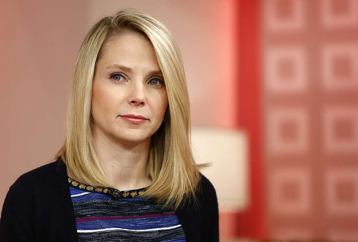 This image released by NBC shows Yahoo CEO Marissa Mayer appearing on NBC News'