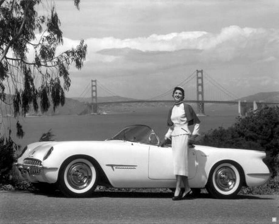 1953 Corvette GM Motorama show car  (Golden Gate Bridge in the background) (All photos from General Motors.)