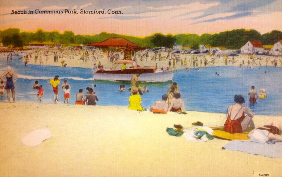 The beach at Cummings Park in Stamford, Conn.