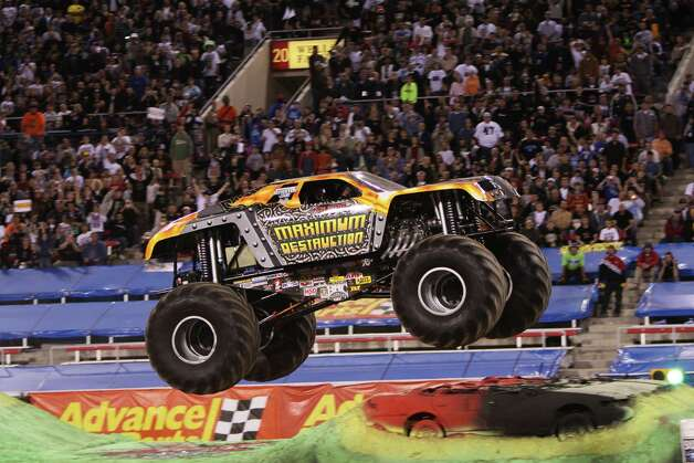 Maximum Destruction, driven by veteran Kreg Christensen, will crush its way into Bridgeport when Advance Auto Parts Monster Jam comes to the Webster Bank Arena from Friday, March 8 through Sunday, March 10. Photo: Contributed Photo