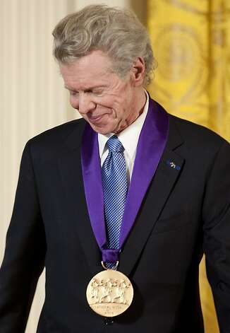 Classical pianist Van Cliburn receives the 2010 National Medal of Arts during a ceremony at the White House in Washington, DC, in this March 2, 2011 fiel photo. Cliburn, who won the first International Tchaikovsky Competition in Moscow at age 23 in 1958, died at his Fort Worth, Texas, home on February 27, 2013, following a battle with bone cancer, according to his publicist and friend Mary Lou Falcone. Cliburn was the first ever classical musician to receive a ticker tape parade in New York after he won the Soviet piano competition. Photo: Jim Watson, AFP/Getty Images