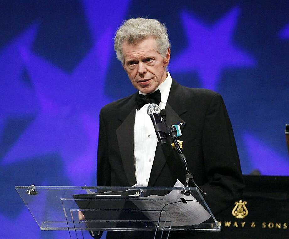 This Sept. 18, 2008 file photo shows pianist Van Cliburn at the presentation ceremony of the Liberty Medal that was presented to former President of the Soviet Union Mikhail Gorbachev in Philadelphia. Cliburn, the internationally celebrated pianist whose triumph at a 1958 Moscow competition helped thaw the Cold War and launched a spectacular career that made him the rare classical musician to enjoy rock star status  died early Wednesday, Feb. 27, 2013, at his Fort Worth home following a battle with bone cancer. Photo: Tom Mihalek, Associated Press