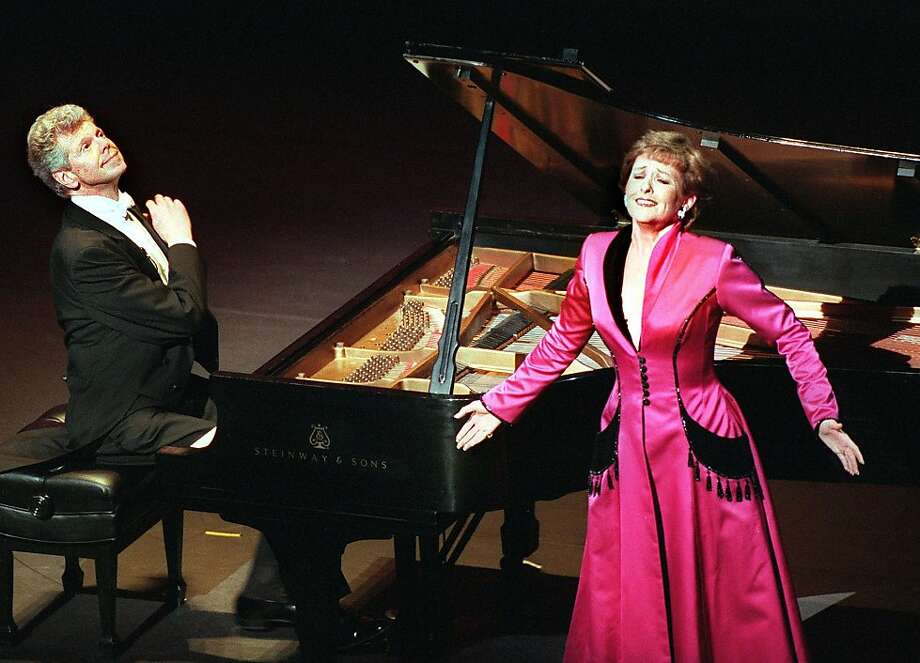 Van Cliburn (right) and Frederica von Stade in a performance from 'Let the Angels Play'  on the opening night of the performance at the Nancy Lee and Perry R. Bass Performance Hall Friday May 8, 1998. Photo: Rodger Mallison, SFC