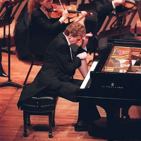 Van Cliburn during his performance at Davies in Sept. 1994. Photo: Michael Macor