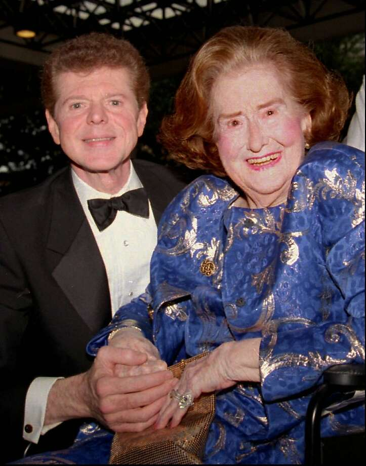 Rildia Bee O'Bryan Cliburn, mother and principal teacher of famed pianist Van Cliburn poses with her son in this May 1993 photo taken during the 9th annual  Van Cliburn International Piano Competition in Fort Worth, Texas. Photo: Carolyn Bauman, Associated Press