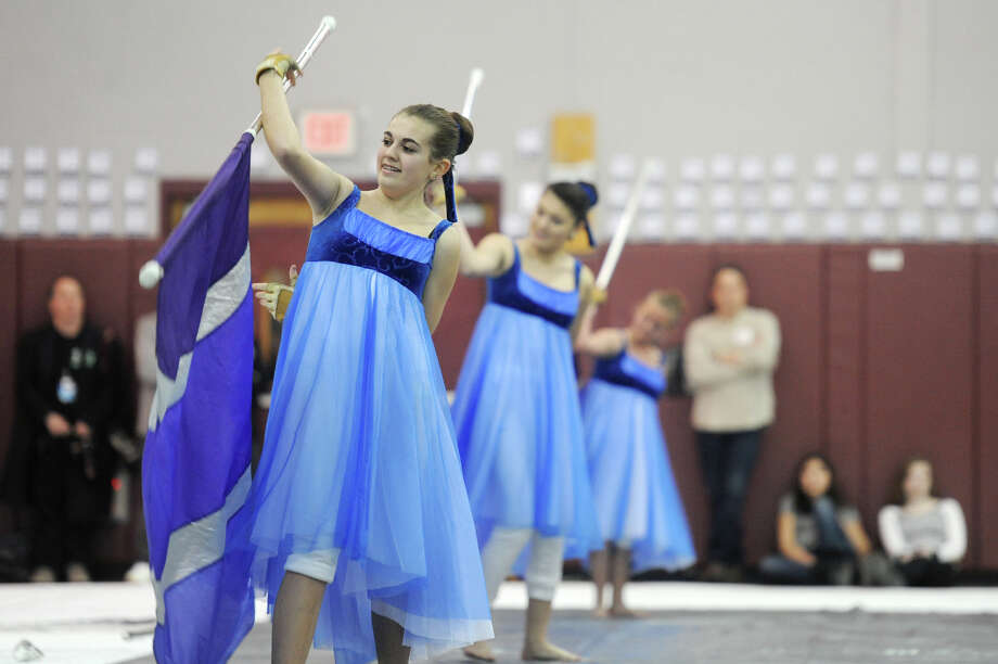 The Brookfield independent winter guard team performs at the Bethel Winterguard Home Show at Bethel High School in Bethel, Conn. Saturday, Feb. 23, 2013. Photo: Tyler Sizemore / The News-Times