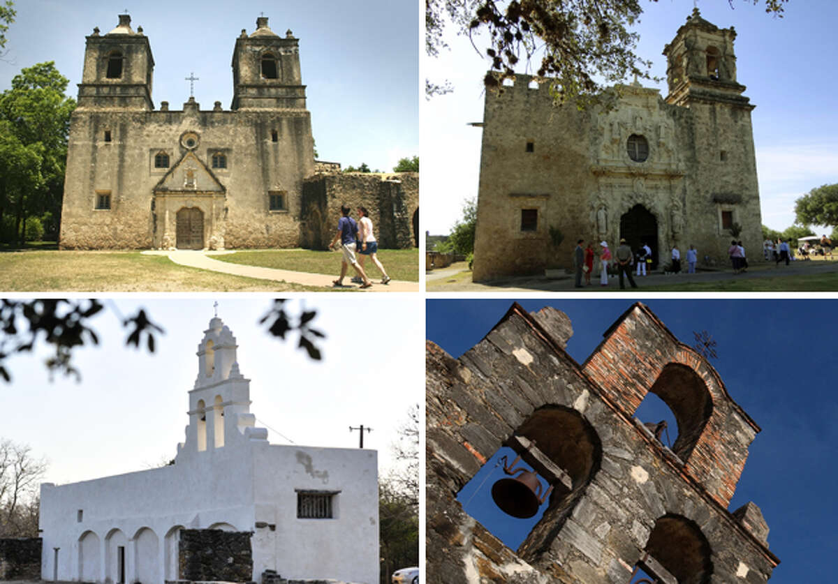 San Antonio Missions National Historical Park is the nation's largest collection of Spanish colonial resources. Pictured left to right, and established along the San Antonio River, missions Concepción, San José, San Juan and Espada are part of a colonization system that stretched across the Spanish Southwest in the 17th, 18th, and 19th centuries.