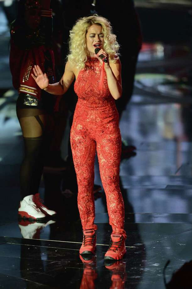 Rita Ora performs onstage at the MTV EMA's 2012 at Festhalle Frankfurt on November 11, 2012 in Frankfurt am Main, Germany. Photo: Ian Gavan, Getty Images For MTV / 2012 Getty Images