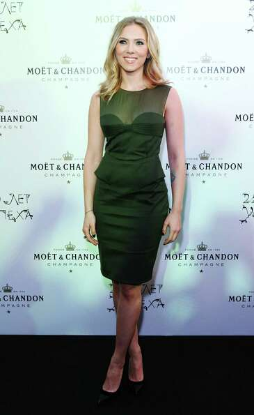 Actress Scarlett Johansson attends Moet Chandon 250 Anniversary party on October 4, 2012 in Moscow,