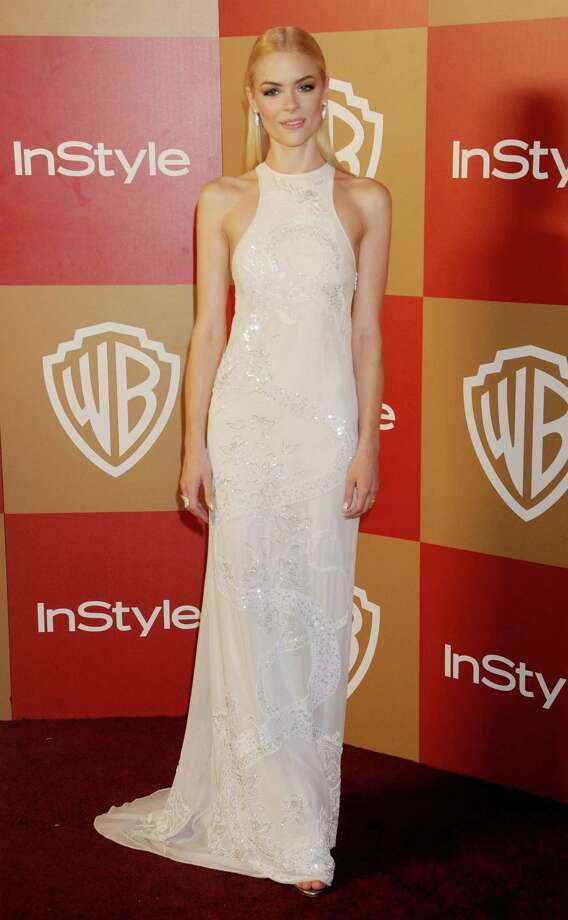 Actress Jaime King arrives at the InStyle and Warner Bros. Golden Globe party at The Beverly Hilton Hotel on January 13, 2013 in Beverly Hills, California. Photo: Gregg DeGuire, WireImage / 2013 Gregg DeGuire