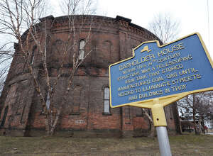Exterior of the 1873 Gasholder House on Tuesday Feb. 26, 2013 in Troy, N.Y. The house was used to store illuminating gas for the Troy Gas Light Co. and is one of the few remaining structures of this type in the country.  (Lori Van Buren / Times Union)