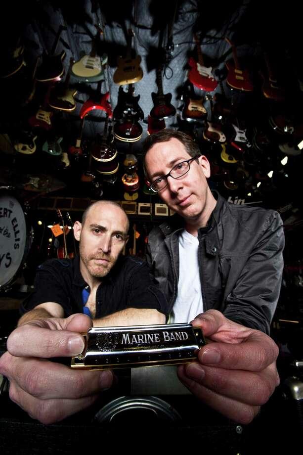 "Director Marc Lempert, left, and producer Todd Slobin created the documentary ""Pocket Full of Soul: The Harmonica Documentary."" Photo: Eric Kayne / © 2013 Eric Kayne"