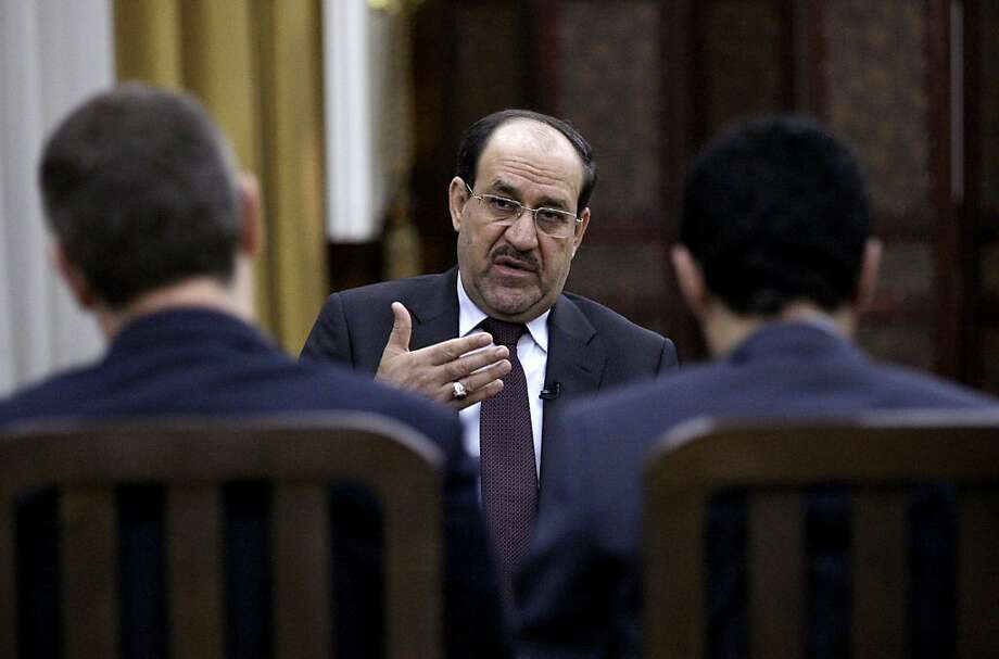 Iraqi Prime Minister Nouri al-Maliki said last week that he worries a victory for rebels in the Syrian civil war would create a new extremist refuge and destabilize the wider Middle East. Photo: Khalid Mohammed, Associated Press