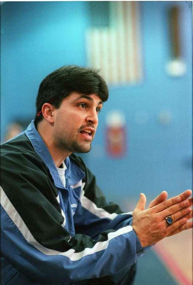 Abbott Tech Girls Basketball Coach Frank Warecke during Thursday Feb. 11, 1999 game Photo: File Photo\Douglas Healey