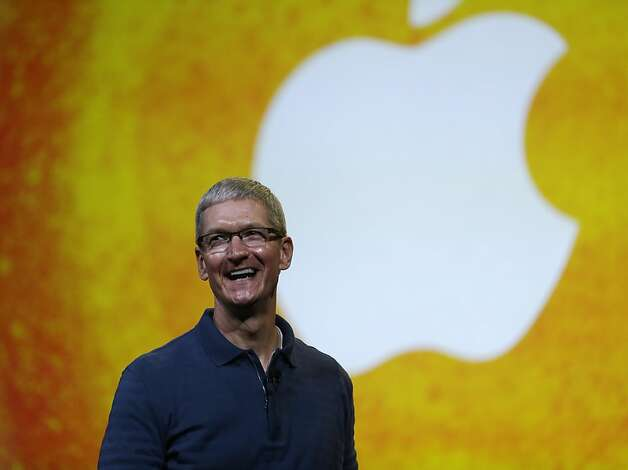 "In this Tuesday, Oct.  23, 2012, file photo Apple CEO Tim Cook speaks during an event to announce new products in San Jose, Calif. Apple CEO Tim Cook sought to assure shareholders Wednesday, Feb. 26, 2013, that the company is working on some ""great stuff"" that may help reverse a sharp decline in its stock price.  (AP Photo/Marcio Jose Sanchez, File) Photo: Marcio Jose Sanchez, Associated Press"