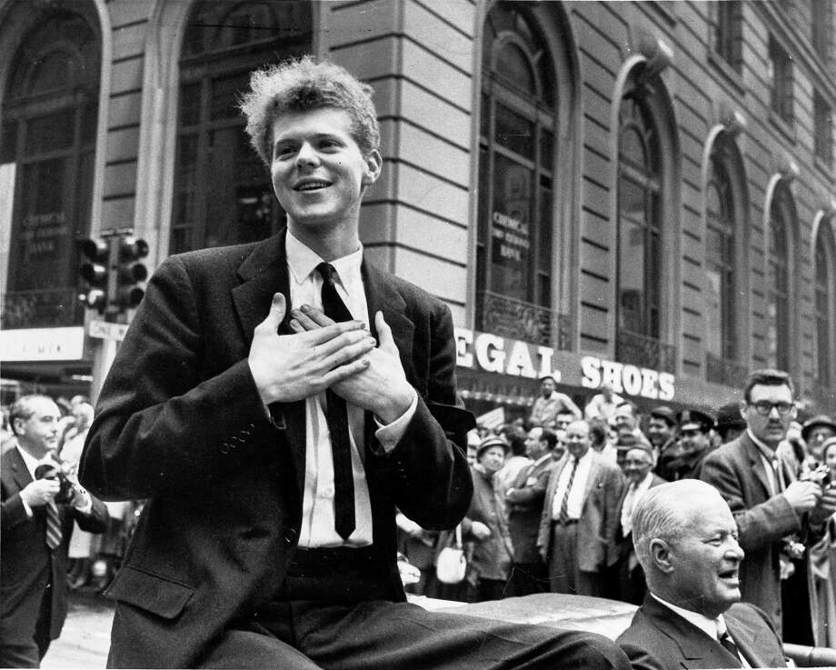 Van Cliburn, 1934-2013: The American pianist rose to fame in 1958 when he won the International Tchaikovsky Piano Competition in Moscow, during the Cold War. He died at age 78 on February 27. Photo: NEAL BOENZI / NYTNS