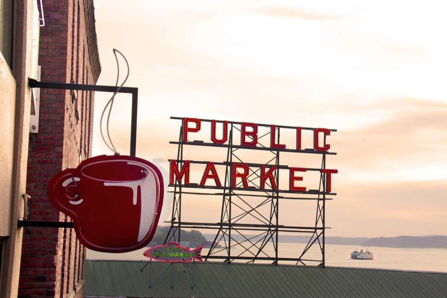 8. Seattle's Best Coffee in Pike Place Market: Opened in 1984, it was a great place to watch the bustle on Post Alley from large, open windows. Its iconic red, neon coffee-cup sign on Pine Street was a beacon for locals and tourists alike.