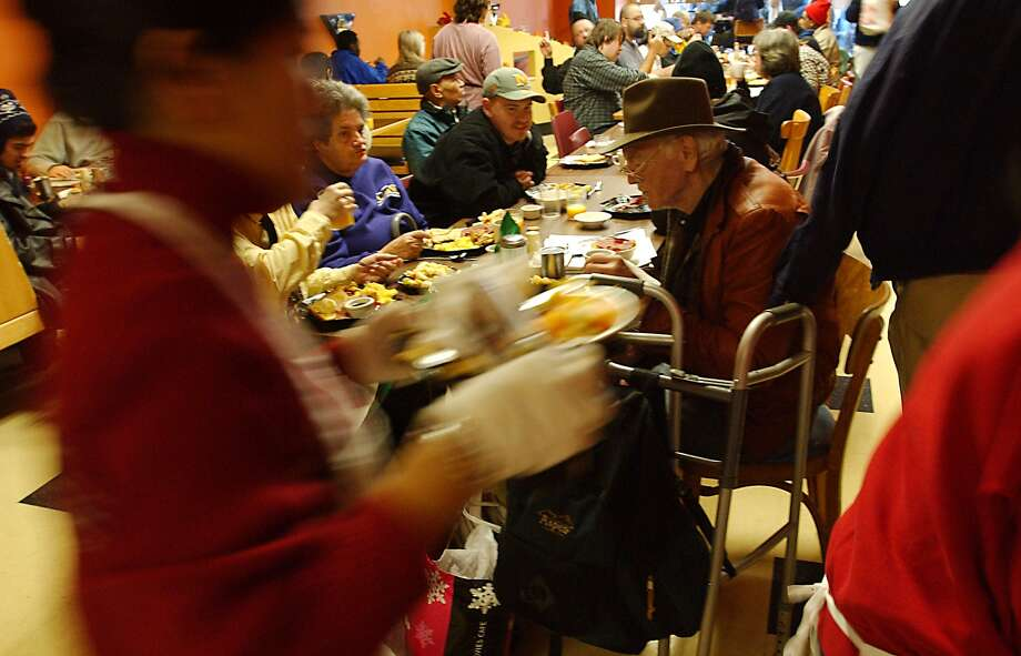 Here's the Boomtown Cafe serving a Christmas brunch in 2001 for hundreds of low-income customers. Photo: JEFF LARSEN / Seattle Post-Intelligencer