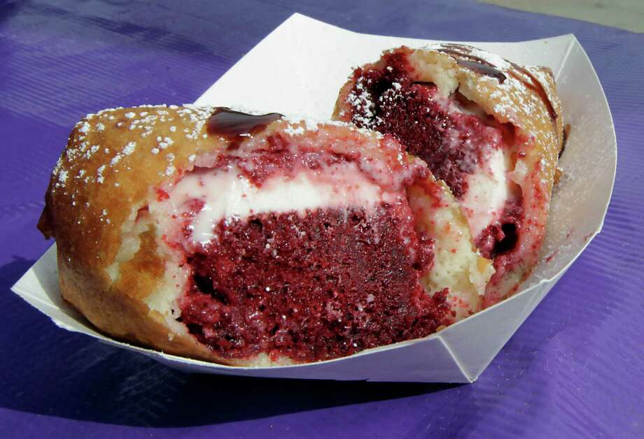 You might still find a few of these past rodeo favorites on the Midway.Deep fried red velvet cake Photo: James Nielsen, Staff / © 2013  Houston Chronicle