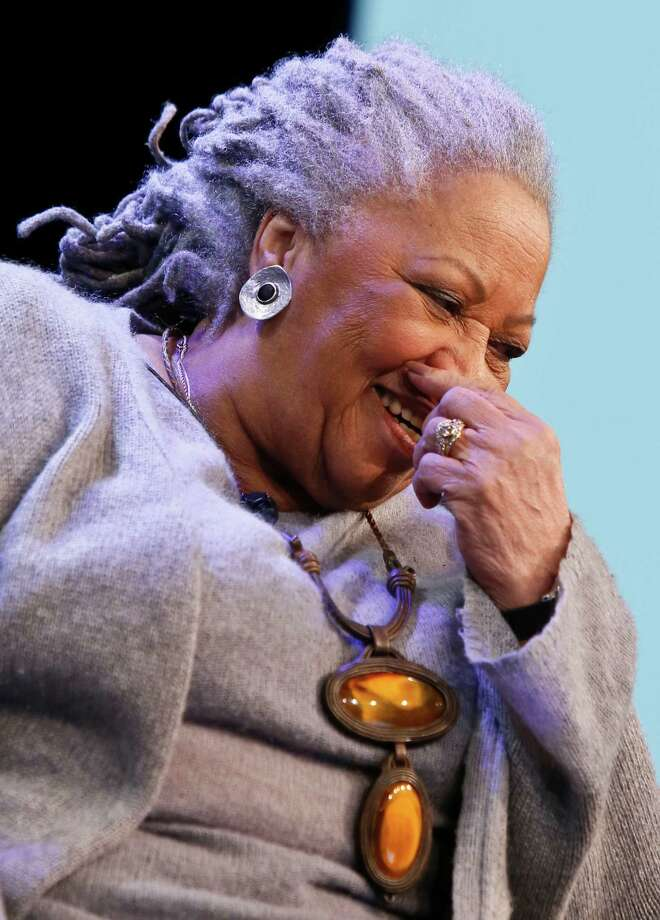 "Author Toni Morrison laughs during an interview about her latest book ""Home,"" on Google's online series, ""Authors At Google,"" on Wednesday, Feb. 27, 2013 in New York. (AP Photo/Bebeto Matthews) Photo: Bebeto Matthews"
