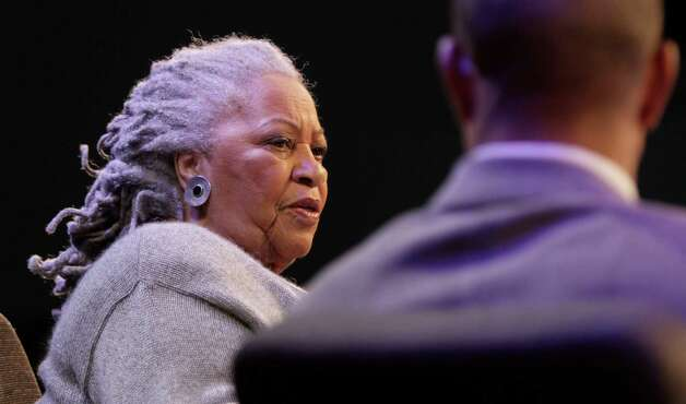 "Author Toni Morrison speaks during an interview about her latest book ""Home,"" during Google's online series, ""Authors At Google,"" on Wednesday, Feb. 27, 2013 in New York. (AP Photo/Bebeto Matthews) Photo: Bebeto Matthews"