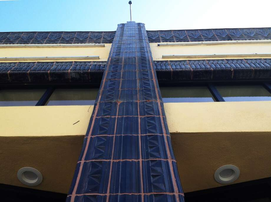 The facade tiles.