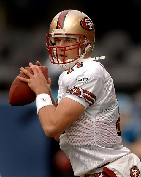 Dec. 11, 2005; Seattle, Wash, USA;  San Francisco 49ers quarterback #11 Alex Smith passes the ball a