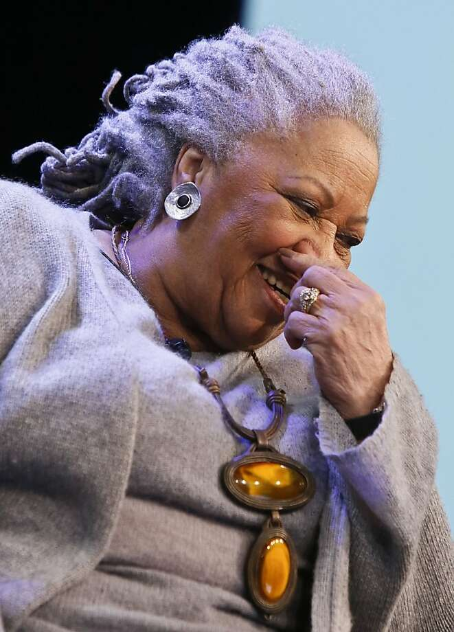 Author Toni Morrison paid a call on Google's New York offices. Photo: Bebeto Matthews, Associated Press