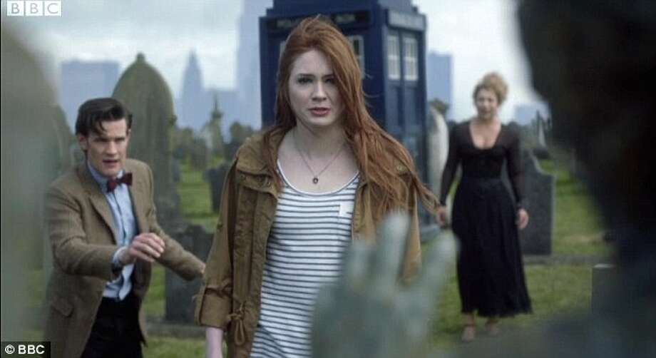 Our freshest bout of pain, The Angel's Take Manhattan the dreaded episode that put an end to the Ponds, ripping them away from the Doctor and putting them back in time, creating a paradox that would never allow him to see them again. Photo: © BBC