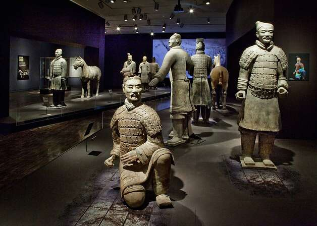 Terra-cotta warriors from the tomb of the First Emperor of China, on display at the Asian Art Museum, date to the third century B.C. Photo: Kaz Tsuruta
