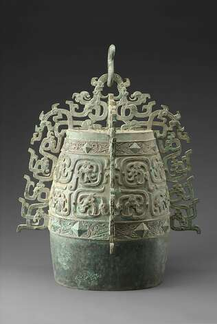 A bronze bell from about the seventh century B.C., excavated in Shaanxi province. Photo: Unknown, Permission Is Granted To Reprodu