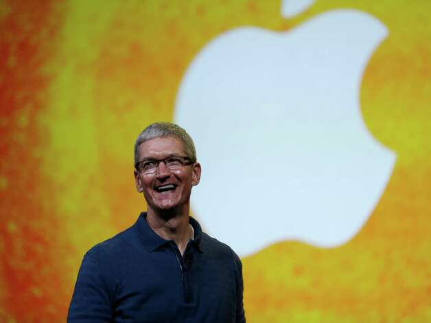 "In this Tuesday, Oct.  23, 2012, file photo Apple CEO Tim Cook speaks during an event to announce new products in San Jose, Calif. Apple CEO Tim Cook sought to assure shareholders Wednesday, Feb. 26, 2013, that the company is working on some ""great stuff"" that may help reverse a sharp decline in its stock price.  (AP Photo/Marcio Jose Sanchez, File) Photo: Marcio Jose Sanchez"