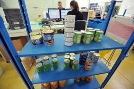 TO GO WITH AFP STORY BY PHILIPPE SCHWAB  Canned food wait to be analysed by technicians, on February 22, 2013, in the Eurofins laboratory in Nantes, western France. Eurofins, world leader in bioanalysis, is facing, since the sparking of last month's Europe-wide food scandal, a flood of demands from European food industry professionals who want to be reassured on the quality and origin of their products. The scandal is based on meat-packing companies allegedly passing off 750 tons of horsemeat as beef.  AFP PHOTO FRANK PERRYFRANK PERRY/AFP/Getty Images