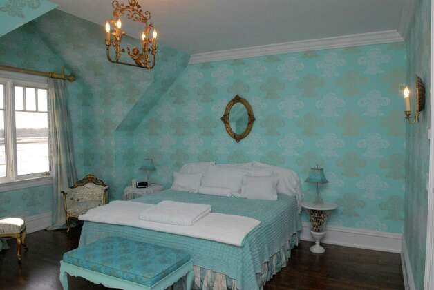 One of the bedrooms at 24 Brush Island Road in Darien, Conn. which is on the market for $8.6 million and was photographed on February 18, 2013. Photo: Dru Nadler / Stamford Advocate Freelance