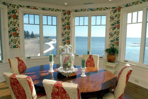The dining area at 24 Brush Island Road in Darien, Conn. which is on the market for $8.6 million and was photographed on February 18, 2013. Photo: Dru Nadler / Stamford Advocate Freelance