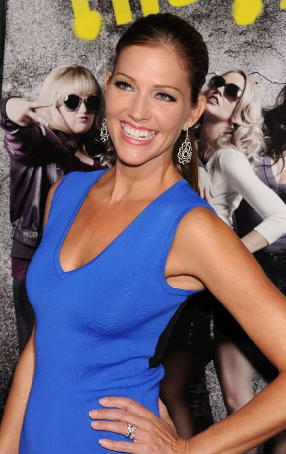 Tricia Helfer at the 2012 premiere of ''Pitch Perfect.''