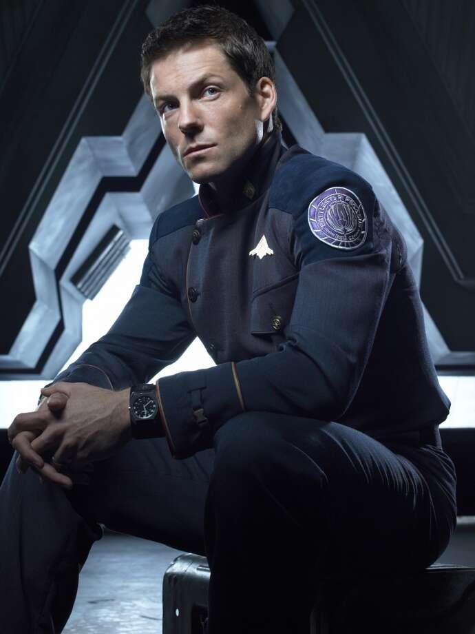 Jamie Bamber as Capt. Apollo in 2006, from Season 3 of ''Battlestar Galactica.''