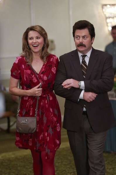 More recently, Lucy Lawless appeared on Parks & Recreation'' with Nick Offerman as Ron Swanson.
