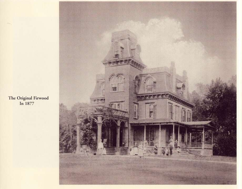 This historic photo shows a glimpse of what Firwood looked like back in 1877, before it was purchased by John Crimmins.
