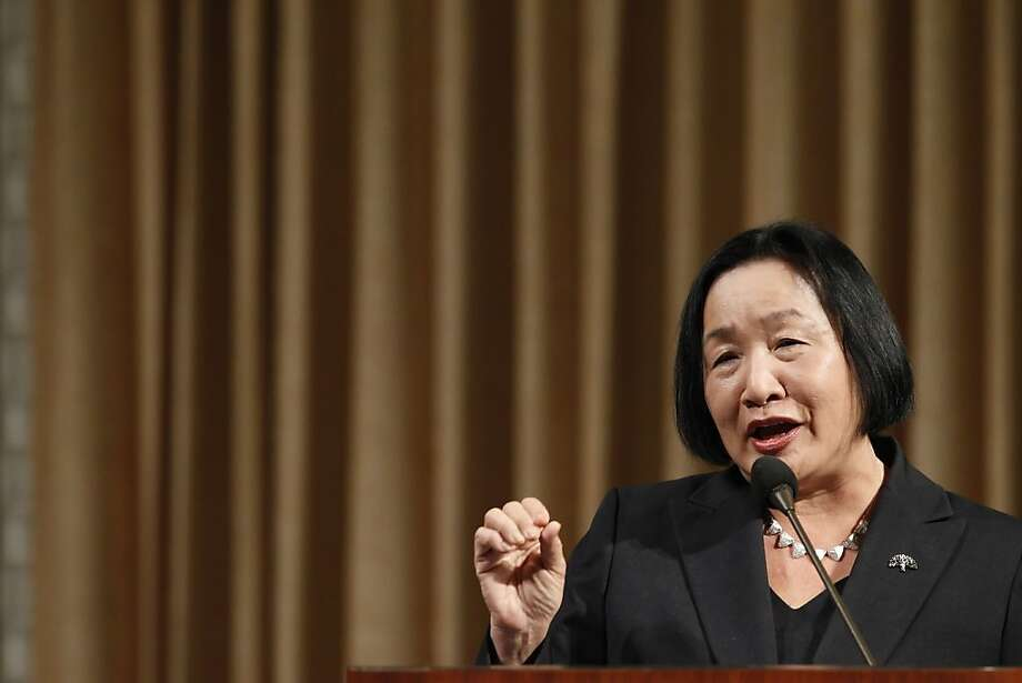 Oakland Mayor Jean Quan gave the state of the city speech at City Hall in Oakland, Calif., on Wednesday, February 27, 2013. Photo: Carlos Avila Gonzalez, The Chronicle