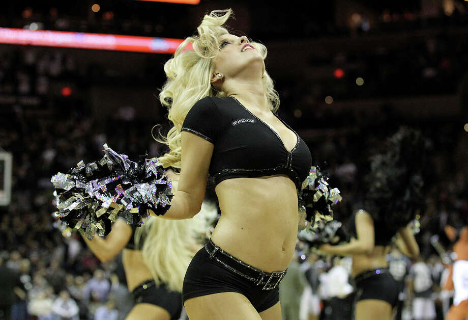 Spurs' Silverdancers perform during a timeout in a game against the Phoenix Suns in the second half at the AT&T Center on Wednesday, Feb. 27, 2013. Photo: Kin Man Hui, San Antonio Express-News / © 2012 San Antonio Express-News